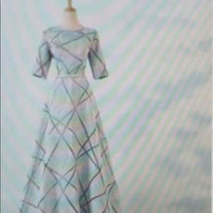 Silver gown NWOT- negotiable